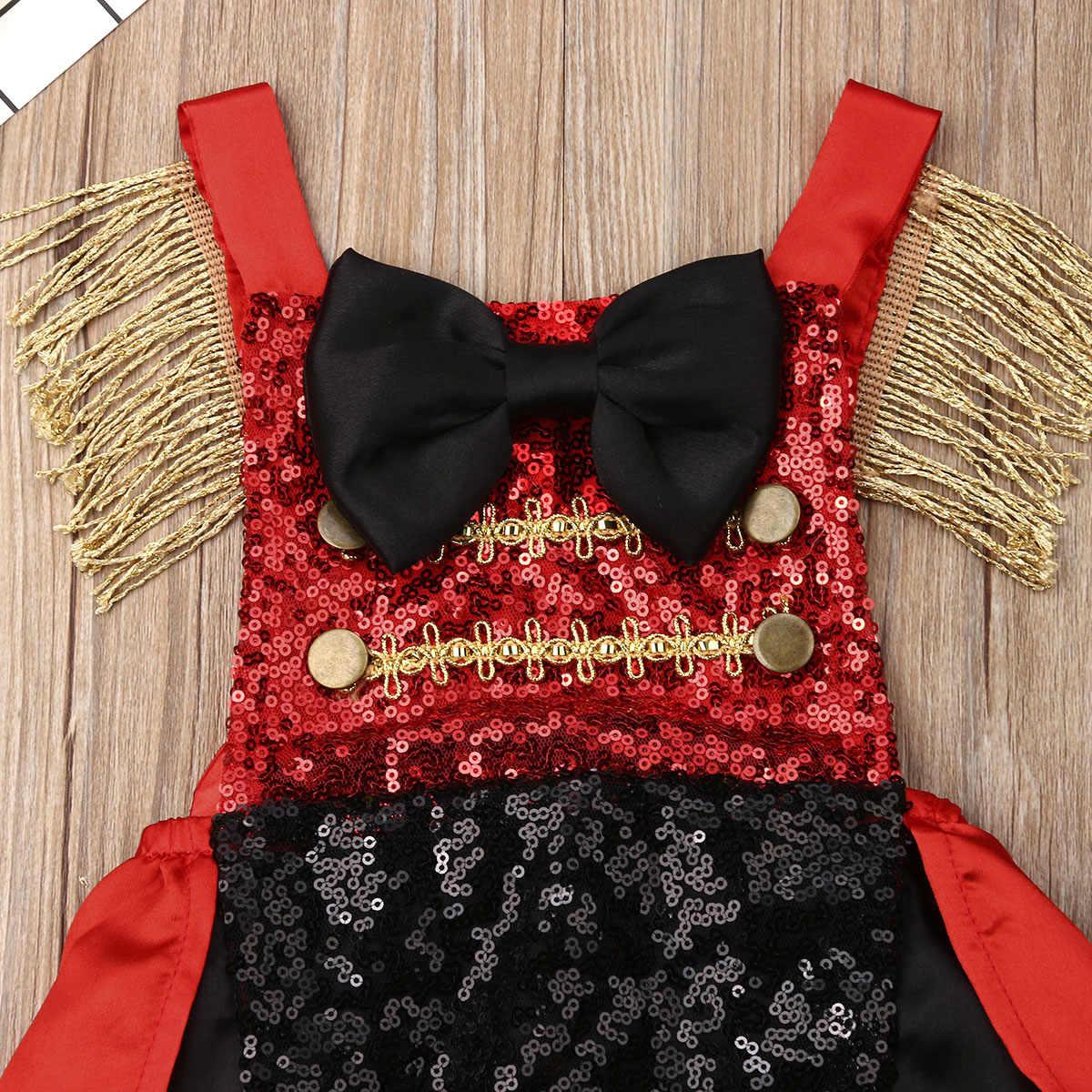 2019 fiesta de circo verano bebé Infante niña traje de lentejuelas cola de golondrina mono traje de sol ropa para niños