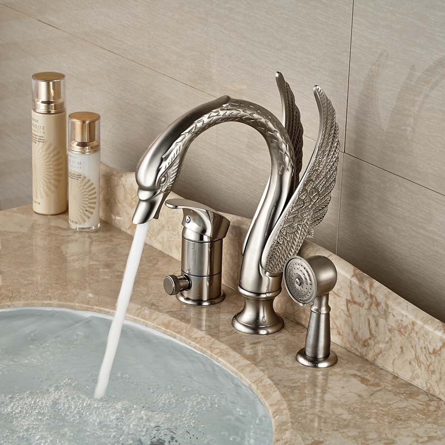 Wholesale And Retail Promotion Brushed Nickel Animal Swan Faucet ...
