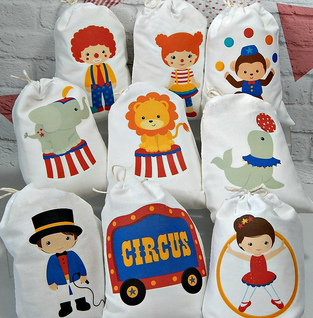 Circus Birthday Party Favor Bags Candy Gift Kids Decoration Supplies Friends Gifts