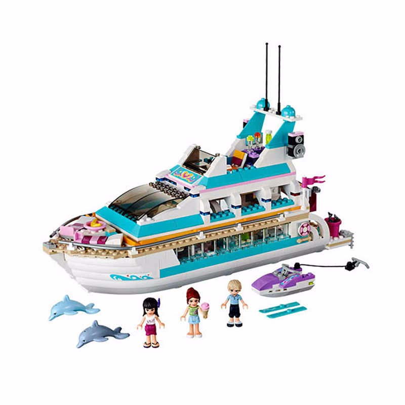 2017 New Bela 10172 Friends Girl Dolphin Cruiser Vessel ship Building Blocks Big Set Compatible with Lepin gift bricks Kid Toy lepin 02012 city deepwater exploration vessel 60095 building blocks policeman toys children compatible with lego gift kid sets