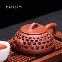 PINNY 150ML YiXing Purple Clay Hollow Shi Piao Teapot Da Hong Pao Zi Sha Mud Chinese Kung Fu Tea Service Retro Drinkware