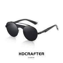 5ea61659c Metal Rodada Steampunk Óculos de Sol Das Mulheres Dos Homens de Moda  Designer de Marca Retro