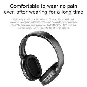 Image 5 - Baseus D02 Bluetooth Kopfhörer Tragbare Kopfhörer Bluetooth Headset Stereo Drahtlose Kopfhörer Mit Mikrofon Für Telefon Computer