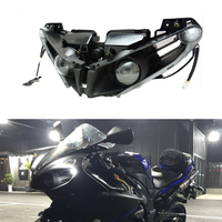 KEMiMOTO Headlight Lamp For Yamaha YZF R1 YZF R1 2012 2013 2014 Head Light Housing Clear Motorcycle Accessories