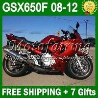 7 подарки для SUZUKI GSX650F все Красный 08 09 10 11 12 GSX 650F GSX650 F GSXF650 #334 2008 блеск для губ темно красный 2009 2010 2011 2012 обтекатель