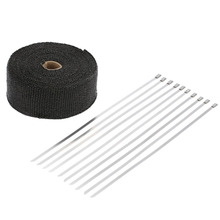 Professional Motorcycle Exhaust Insulation Tape 10M 5CM Automobile Exhaust Heat Wrap Fireproof Cloth Roll With 10