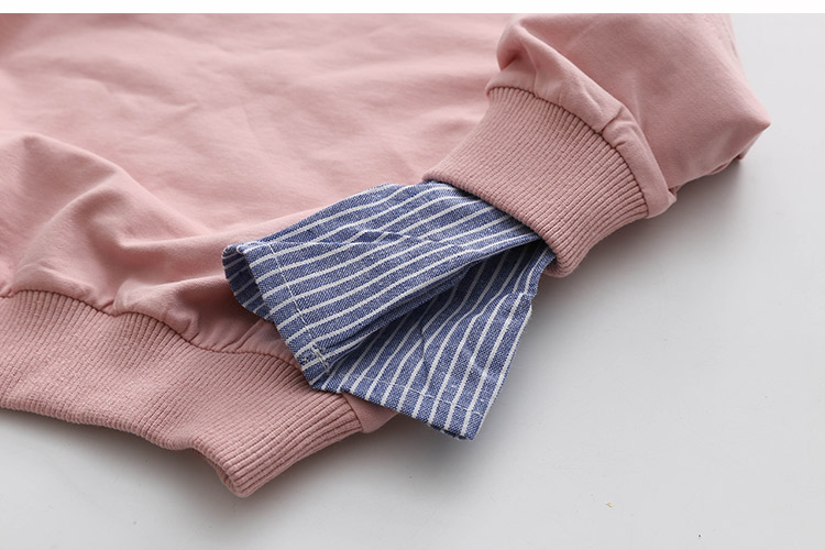 2018 Spring Autumn 2-10 11 12 Years Old Teenager Children Patchwork Fake 2 Pcs Baby Kids Basic Sweatshirt For Girls 11 12 Years (14)