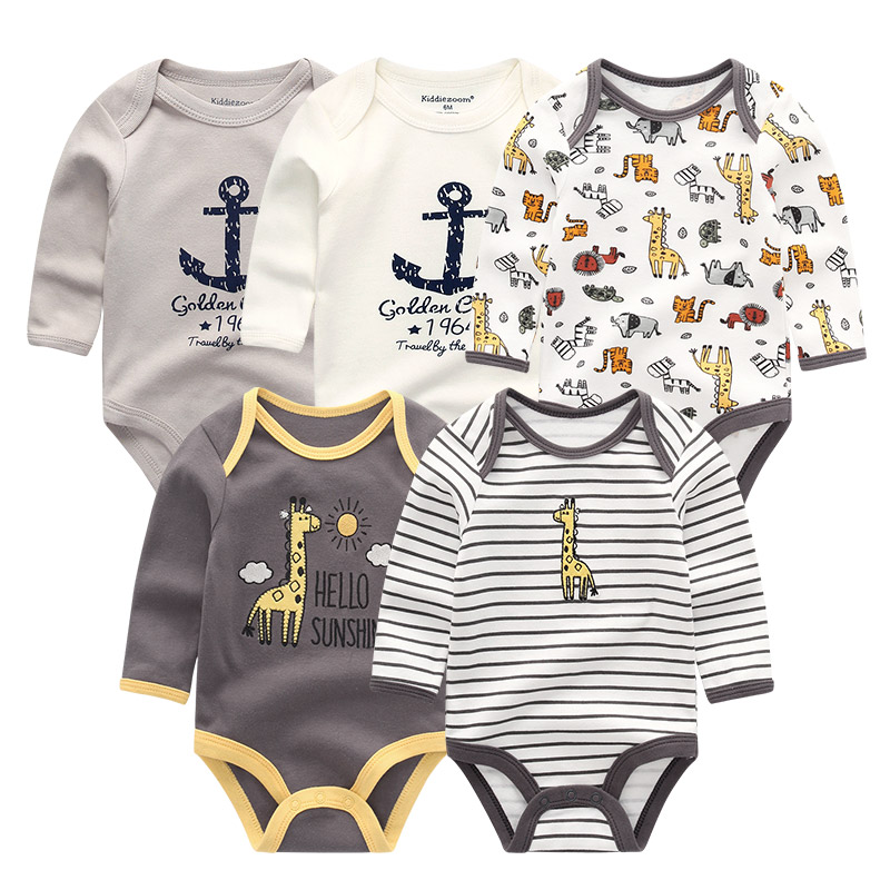 5Pcs/set Newborn Baby Clothes Full Sheeve roupa de bebes Cartoon 3-12M Boy&Girl Clothing Cotton Infant Jumpsuit Baby Pajamas