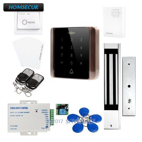 HOMSECUR Waterproof ID Access Control System 5 Ways to Unlock the Door + Waterproof 280KG Magnetic Lock все цены