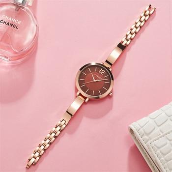 CURREN-Relojes de pulsera para Mujer, Reloj de pulsera de acero inoxidable de...