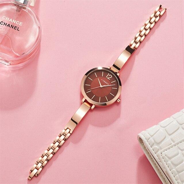 CURREN montre Bracelet à Quartz pour femmes, Bracelet en acier inoxydable, cadeau tendance, collection montre pour femme