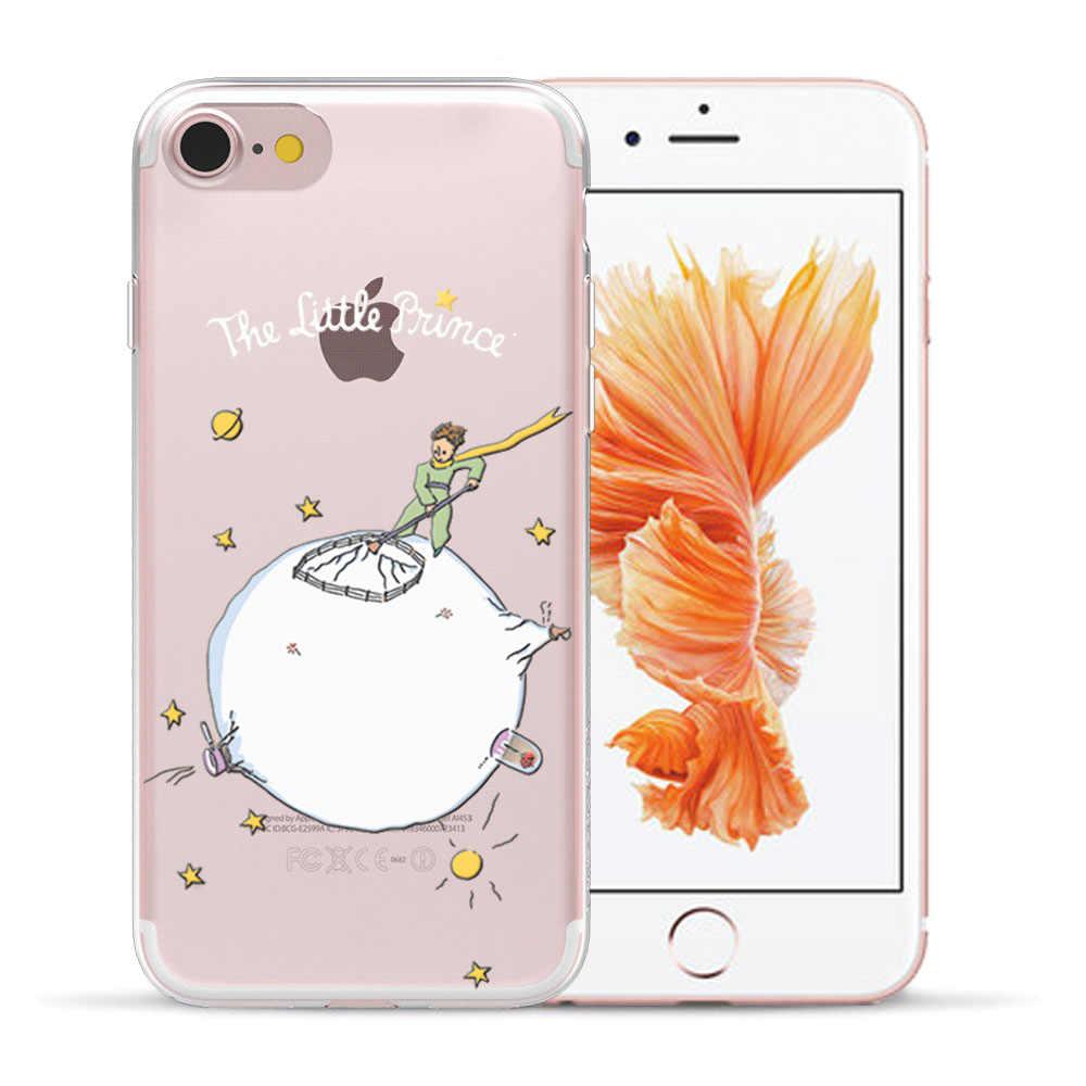 غطاء من السيليكون الناعم مطبوع عليه Little Prince لهاتف Coque Apple iPhone 11 Pro Max 5 5s SE 6 6S 7 8 Plus X XS Max XR