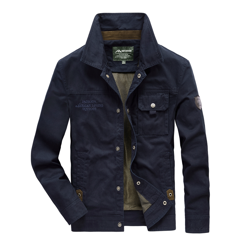 Jacket Men Fashion Denim Jacket Thin section Plus Size Single Breasted Man Outerwear Casual Turn Down Collar Male Jackers - 2