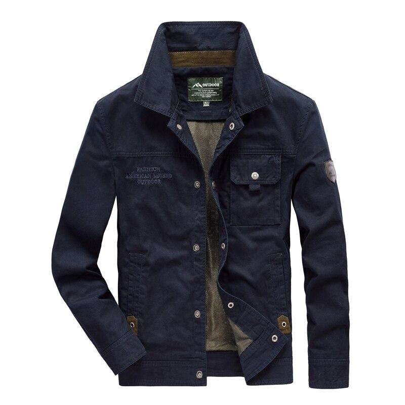 Jas Mannen Mode Denim Jasje Dunne gedeelte Plus Size Enkele Breasted Man Bovenkleding Casual Turn Down Kraag Mannelijke Jackers - 2