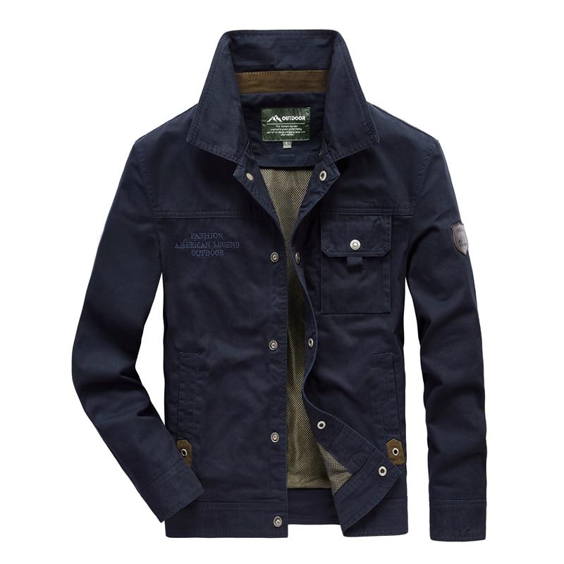 Uomini giacca Moda Giacca di Jeans sezione Sottile Plus Size Monopetto Uomo Tuta Sportiva Casual Turn Imbottiture Collare Maschio Jackers - 2