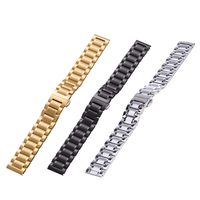 Quick Release Luxury Watchband Metal Straps For Huawei Smart Watch 18mm Stainless Steel Watchband Band Black