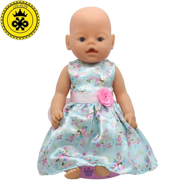Acessórios Da Boneca do bebê Estilos Princesa Roupas de Boneca Vestido de 15 Fit D4 43 cm Roupa Da Boneca de Presente de Aniversário Do Bebê