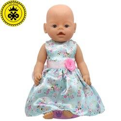 Baby Puppe Zubehör 15 Stile Prinzessin Kleid Puppe Kleidung Fit 43 cm Baby Puppe Kleidung Geburtstag Geschenk D4