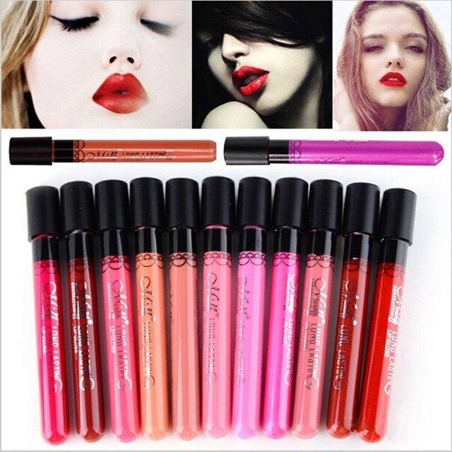 Maquillaje de marca pintalabios mate tinte líquido lápiz labial terciopelo maquillaje impermeable de larga duración brillo de labios Sexy cosmético Menow