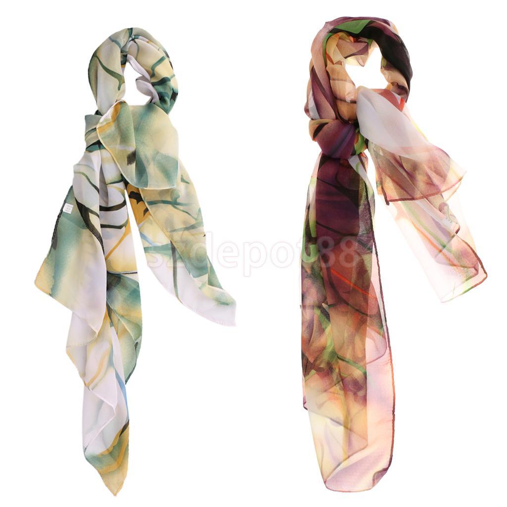 High Quality Women Fashion Soft Elegant Floral Chiffon   Scarf     Wrap   Shawls Neck Head Scarfs