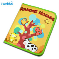 Infant early Childhood teaching animal cloth book Toys Baby puzzle children learning toys Christmas Gifts