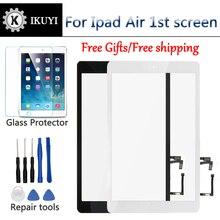 Новый для iPad Air 1 iPad 5 Сенсорный экран планшета и Главная кнопка спереди Стекло Дисплей touch Панель Замена A1474 A1475 A1476