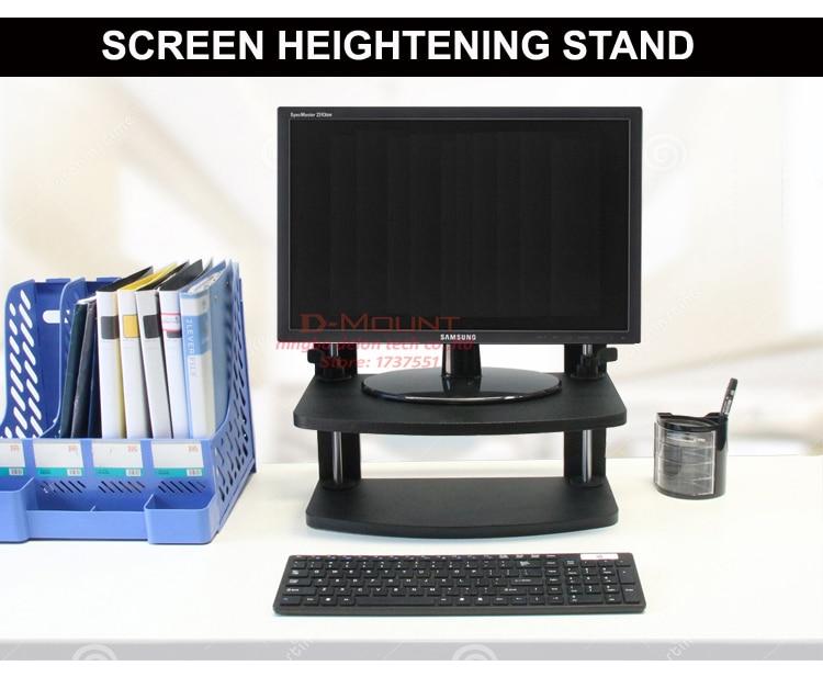 3 25 Cm Bildschirm Erhöhung Stehen Holz 2 Schicht Computer Sitzen