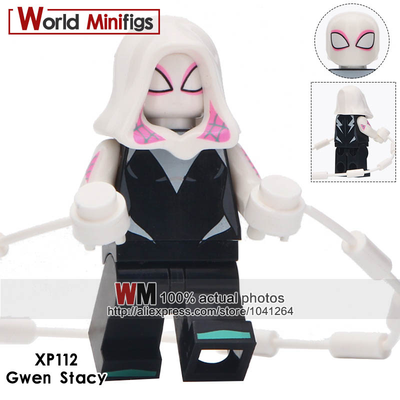 Toys & Hobbies Humble 20pcs/lot Gwen Stacy Spiderman Ultimate Spider-man Into The Spider-verse Web Of Shadows Bricks Model Children Toys Model Building
