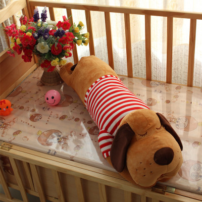 stuffed animal 120cm red stripes cloth lying sleeping dog plush toy soft throw pillow w2305 stuffed animal lovely husky dog plush toy about 180cm prone dog doll 70 inch throw pillow sleeping pillow toy h892