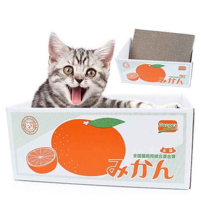 Neue Katze Spielzeug Wellpappe Katzenkratzbrett Katzen Scratcher Mat
