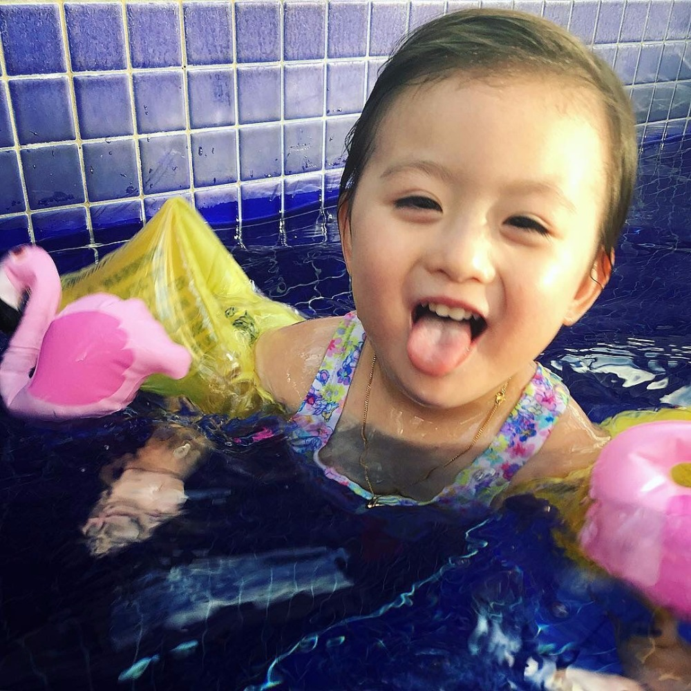 Summer Swimming Pool Cute Inflatable Pink Flamingo Baby Arm Swim Rings Child Learn To Swim Crab Auxiliary Swimming Rings