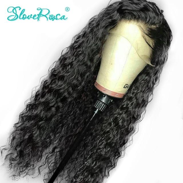 Pelucas de pelo humano Frontal de encaje rizado para mujeres negras Remy pelo peruano Frontal con pelo de bebé Pre desplumado extremo completo resolver Rosa