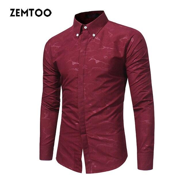Zemtoo New Arrival Men Clothes Casual Shirts Long Sleeve Shirt Mens