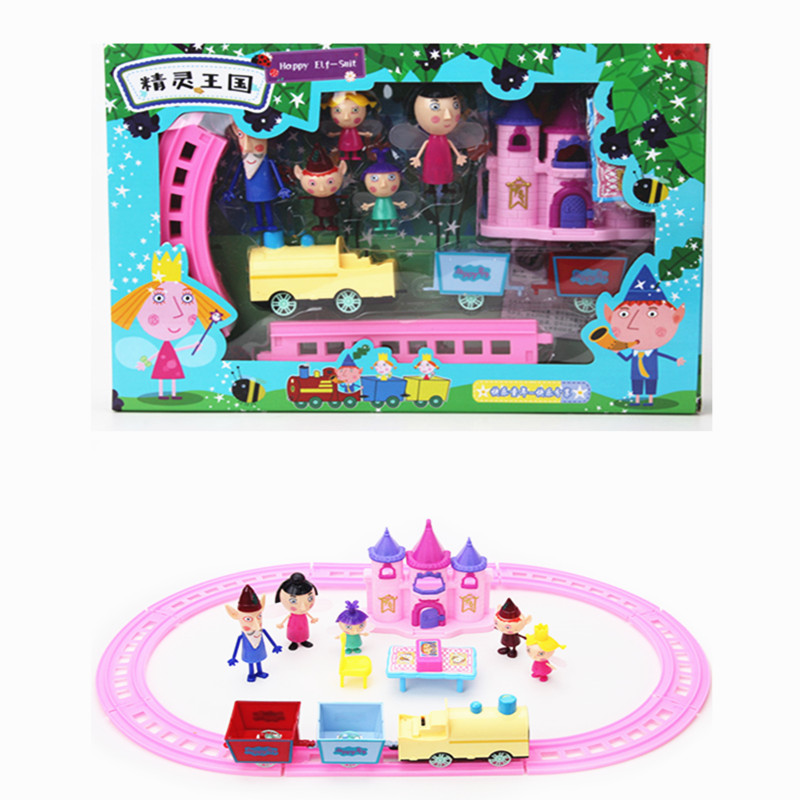 Little Kingdom Ben Holly Action Figure Toy Electric Rail Train Model Ben and Holly Little Kingdom Doll Figures Toys with box ben howard ben howard every kingdom