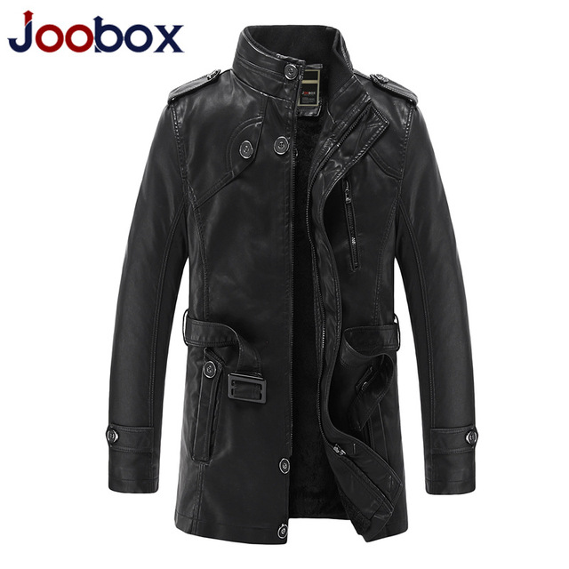 JOOBOX 2018 Brand Motorcycle Leather Jackets Men Autumn Winter Leather Clothing Men Leather Jackets Male Business Casual Coats