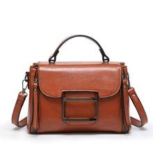 Vintage Box bag Messenger Bags Quality Oil wax Leather Soft Solid PU Handbag Flap Crossbody bag studded pu flap bag
