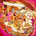 100% Bufanda de Seda Bufanda de Las Mujeres Termales de La Bufanda Pañuelo Pañuelo De Seda 2017 Tapa de la Impresión Pequeña Bufanda de Seda Cuadrada Regalo Caliente para La Señora