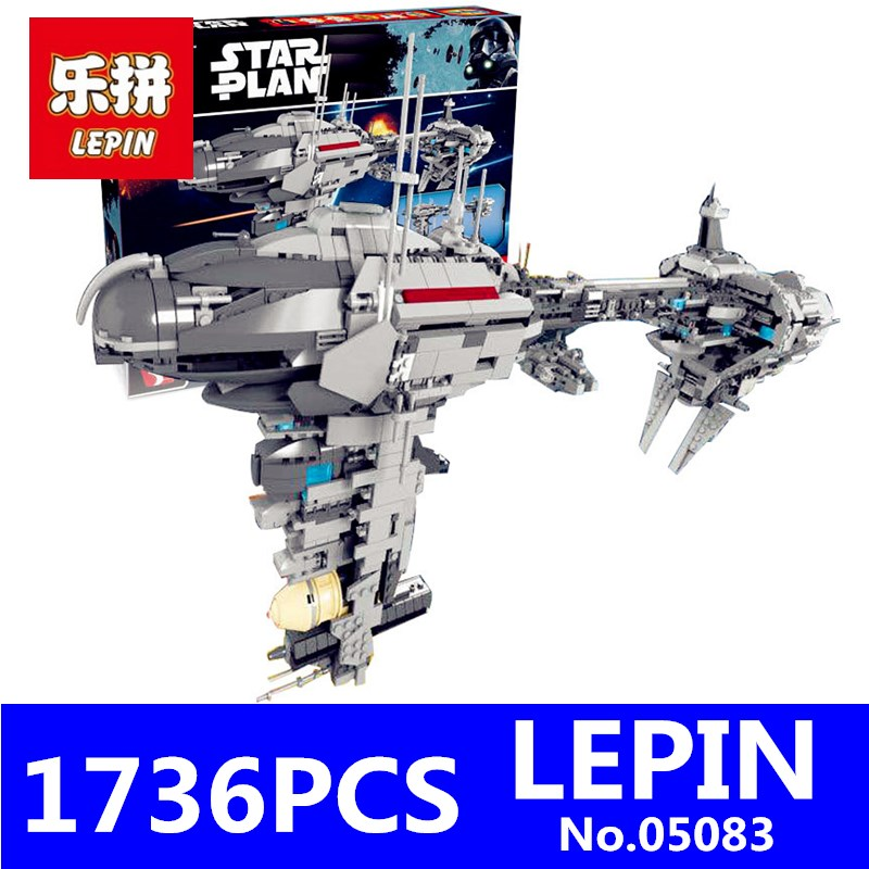 Star War Plan de Buque de Guerra MOC Serie LEPIN 05083 1736 Unids La Nebulón-B M