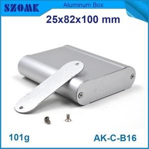 10 шт./лот наружная электрическая коробка алюминиевый Серверный корпус прессованный алюминиевый корпус 25 (H) x82 (W) x100 (L) мм