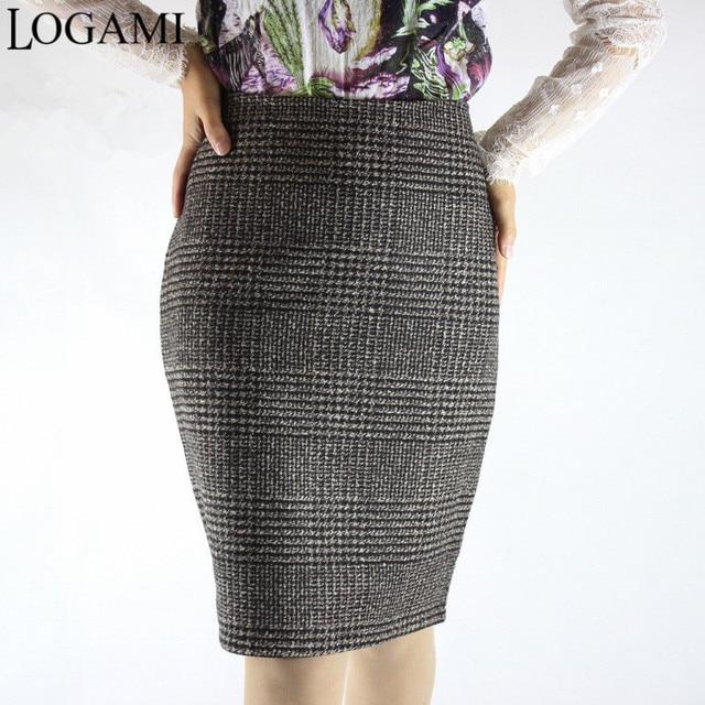 98414a28e € 10.56 21% de DESCUENTO|Aliexpress.com: Comprar Falda de tubo a la altura  de la rodilla de Otoño e Invierno para mujer falda de cintura alta Sexy ...