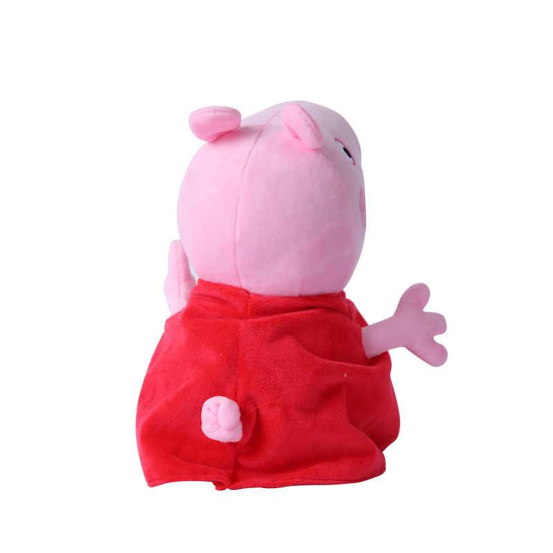 Натуральная Пеппа Джордж Свинья 19/30/46 см Плюшевые животных постельных принадлежностей спальный Наволочка на день рождения подушка детей елочные игрушки подарок для девочки