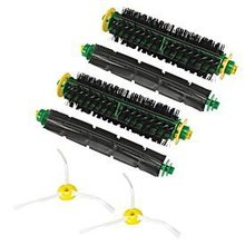(6 pcs/lot) 2 set Brush kit & 2 Side Brush 3-Armed For iRobot Roomba 500 530 560 510 550 570 580 610 Vacuum Cleaner Accessories