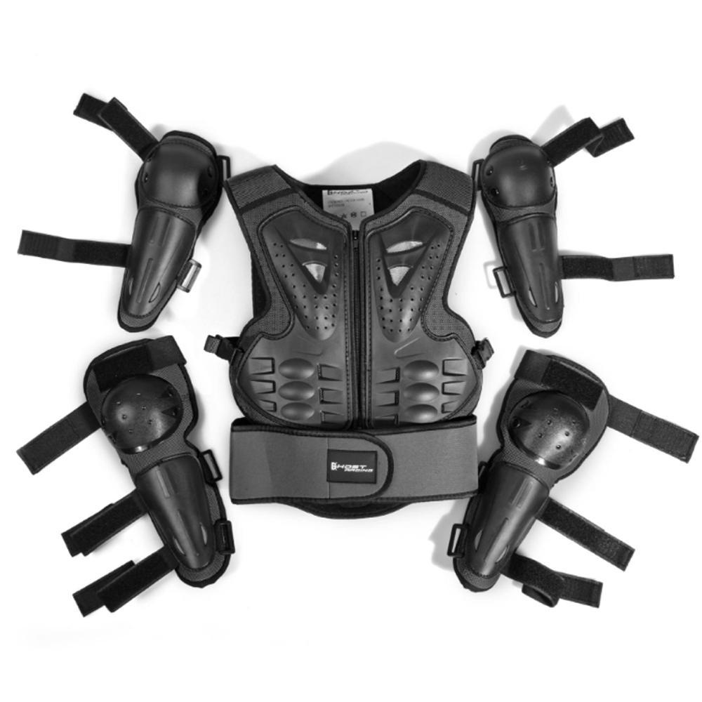 2019 enfants moto équitation complet corps équipement de protection armure costume pour Motocross cyclisme ski planche à roulettes patinage sur glace