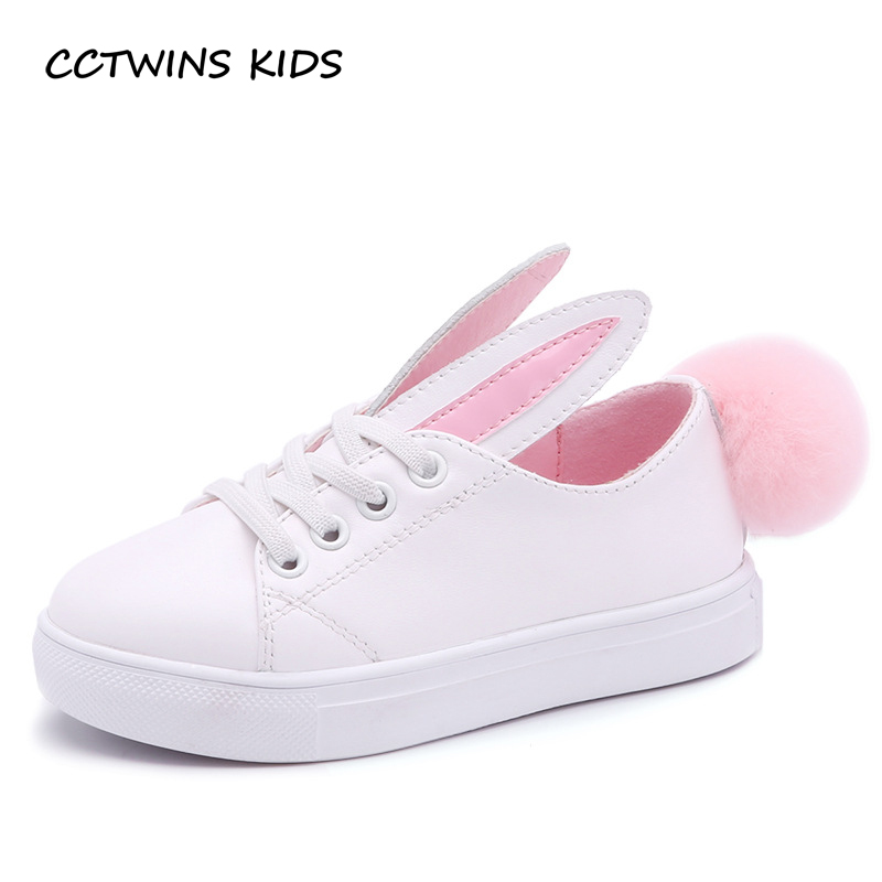 CCTWINS-KIDS-2017-Toddler-Fashion-Leather-Sport-Shoe-Children-Black-Breathable-Sneaker-Baby-Girl-White-Bunny-Flat-F1689-2