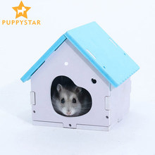 Solid Wood Washable Hamster House Guinea Pig Rat Cage Hamster Houses Mouse Hamster Squirrel House Small Animals Supplies ZG0013(China)