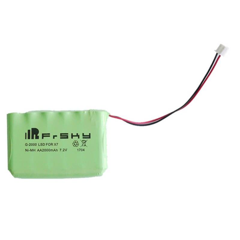 Nueva llegada frsky accst Taranis Q X7 transmisor recambio 7.2 V AA 2000 mAh NiMH batería para RC modelos drone el control remotr