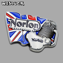 WesBuck Brand Norton Motorcycle Belt Buckle With PU
