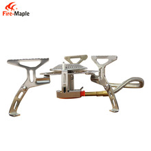 FMS-105 Camping Burner with Fire Igniter Outdoor Stove Cookware Gas Burner