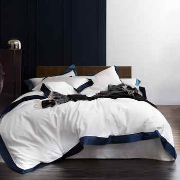 Queen/King Size 1000TC Egyptian Cotton White Luxury Hotel Bedding Set 4Pcs Duvet cover Bed sheet ropa de cama/linge de lit - DISCOUNT ITEM  42% OFF All Category