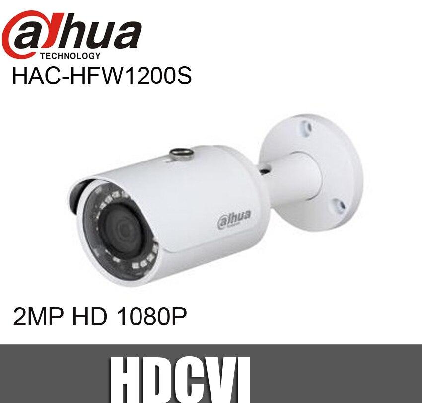 Dahua HAC-HFW1200S 2MP Bullet CVI camera 1080P IR Range 30m Waterproof HDCVI camera full hd security camera hac hfw1220r vf ire6 2mp ir bullet cvi camera 1080p night version cvi camera built in sd